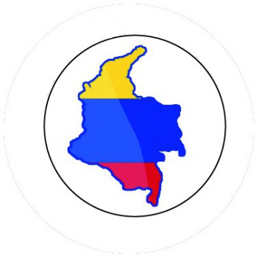 BADGESAGOGO.FR - Badge 25mm COLOMBIE