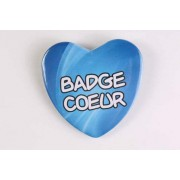 Badge 100% personnalisé en forme de coeur