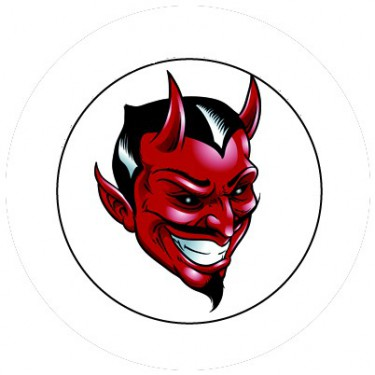BADGESAGOGO.FR - Badge 25mm Diable