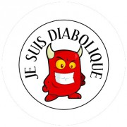 Badge 25mm Diabolique