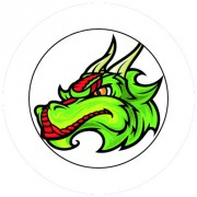 Badge 25mm Dragon