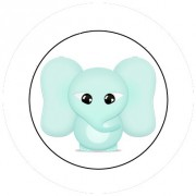 Badge 25mm Elephant bébé