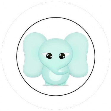 BADGESAGOGO.FR - Badge 25mm Elephant bébé