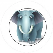 Badge 25mm Elephant