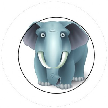 BADGESAGOGO.FR - Badge 25mm Elephant