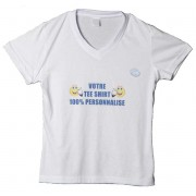 Tee shirt personnalisé à col en V