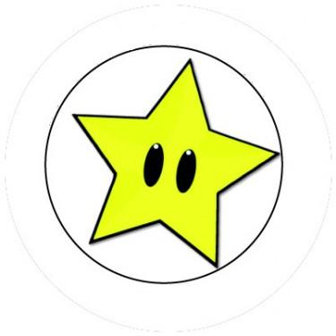 BADGESAGOGO.FR - Badge 25mm Etoile Mario