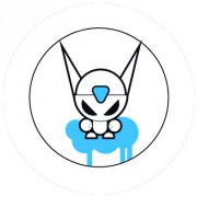 Badge 25mm Evil cat