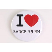 Badge 59 mm I LOVE