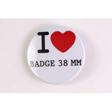 Badge 38 mm I LOVE