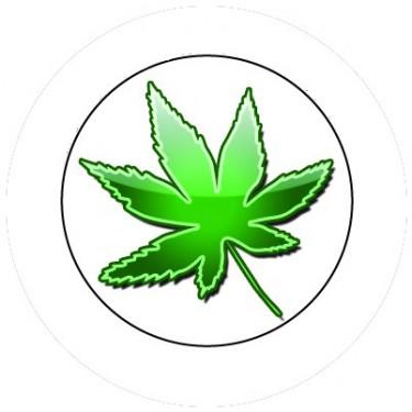 BADGESAGOGO.FR - Badge 25mm Cannabis