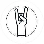 Badge 25mm Fingers