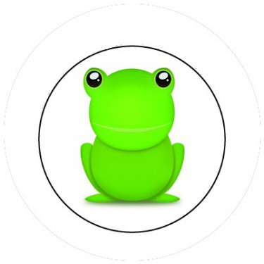 BADGESAGOGO.FR - Badge 25mm Grenouille
