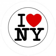 Badge 25mm I LOVE NY