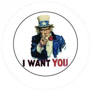 Badge 25mm I want you