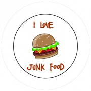 Badge 25mm Junk food