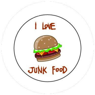 BADGESAGOGO.FR - Badge 25mm Junk food