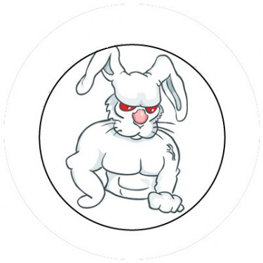 BADGESAGOGO.FR - Badge 25mm Lapin