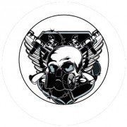 Badge 25mm Masque gaz