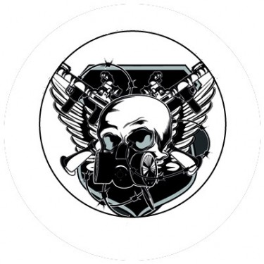 BADGESAGOGO.FR - Badge 25mm Masque gaz