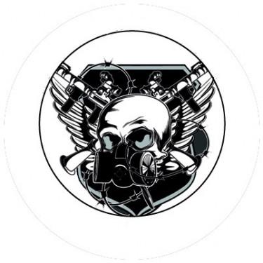 BADGESAGOGO.FR - Badge 25mm Masque gaz