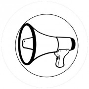 Badge 25mm Megaphone