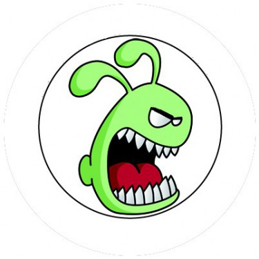 BADGESAGOGO.FR - Badge 25mm Monstre vert