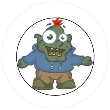 BADGESAGOGO.FR - Badge 25mm Ogre