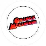 Badge 25mm Orange Mecanique