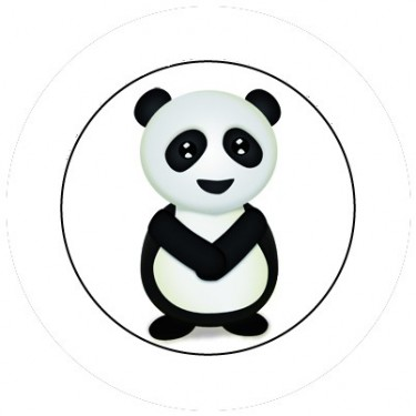 BADGESAGOGO.FR - Badge 25mm Panda