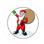 Badge 25mm Pere noel