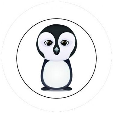 BADGESAGOGO.FR - Badge 25mm Pingouin