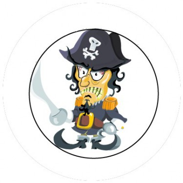 BADGESAGOGO.FR - Badge 25mm Pirate