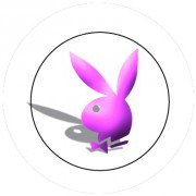 Badge 25mm Playboy