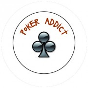 Badge 25mm Poker addict