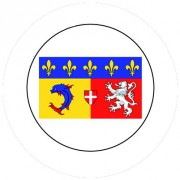 Badge 25mm RHONE ALPES