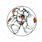Badge 25mm Robot