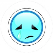 Badge 25mm Smiley triste