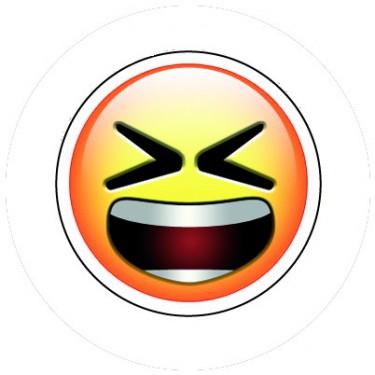 BADGESAGOGO.FR - Badge 25mm Smiley furieux