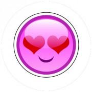 Badge 25mm Smiley amoureux