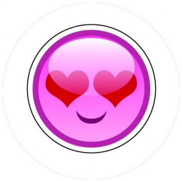 BADGESAGOGO.FR - Badge 25mm Smiley amoureux