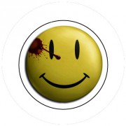 Badge 25mm Smiley sang
