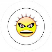 Badge 25mm Smiley punk