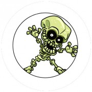 Badge 25mm Squelette