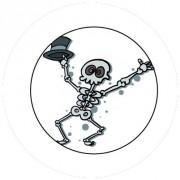 Badge 25mm Squelette chapeau