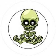 Badge 25mm Squelette zen