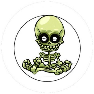 BADGESAGOGO.FR - Badge 25mm Squelette zen