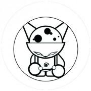 Badge 25mm Strange cat