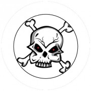 Badge 25mm Tete de mort