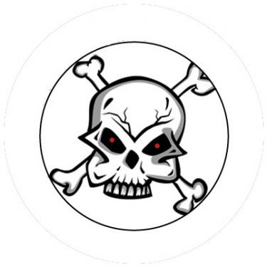 BADGESAGOGO.FR - Badge 25mm Tete de mort